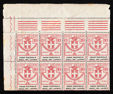 ITALY — 1924 PARASTATAL AGENCIES — 10c CASSA NAZIONALE ASSIC. INF. LAVORO BLK/8