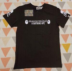 A Bathing Ape + Mastermind T Shirt Size M Black
