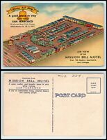 CALIFORNIA Postcard - San Francisco, Mission Bell Motel R19