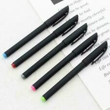 Black Ink Gel Pen Plastic Frosted School Writing Marker 0.5Mm Supply Pens O W9C1