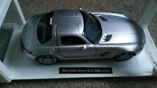Newray 1:24 Mercedes Benz SLS AMG - Silver    WITH STAND    (C1 ) sale
