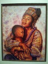 "JONNIE K.C. CHARDONN ""MOTHER AND CHILD"" FRAMED ART PRINT"