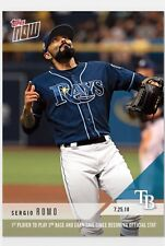 2018 Topps NOW MLB 500 Sergio Romo 1st to Play 3rd Base and Earn Save
