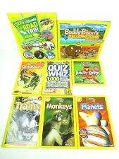 National Geographic Kids Lot of 7 Books Quiz Readers Road Trip Angry Birds    M1
