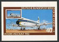 BERLIN MK 1980 LUFTFAHRT AVIATION VICKERS MAXIMUMKARTE MAXIMUM CARD MC CM d4983