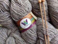 500 g  Natural Light GREY Single Spun 100% Pure Wool Yarn in Hanks