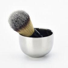 Shinning Stainless Steel Men's Shaving Mug Shave Soap Brush Bowl Cup  new.