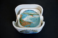 Two Small Ashtrays Inside a Porcelain Box *Niagara Falls Canada*