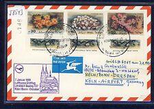 58543) LH FF Colonia-Dresda 7.1.91 CARD Feeder mail Israele, CORALLO CORAL
