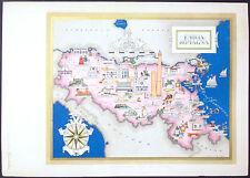 1950 - CARTINA EMILIA E ROMAGNA - STAMPA IMAGO ITALIAE -ED. SPECIALE FARMITALIA
