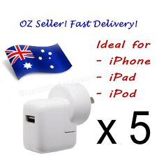 5 x AC Wall Charger for Apple iPhone, iPad & iPod