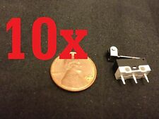 10 Pieces Micro Limit Switch Lever KW10-Z4P n/c n/o arm ac dc roller B12