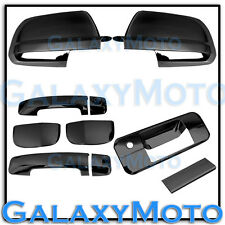 07-13 TOYOTA TUNDRA DOUBLE CAB Black Chrome Mirror+4 Door Handle+Tailgate Cover