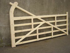 Wooden Drive Gate 5 bar Hookback type 10ft or  Made to Measure