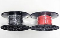 16 GAUGE WIRE RED & BLACK 125 FT EA ON SPOOL PRIMARY AWG STRANDED COPPER POWER