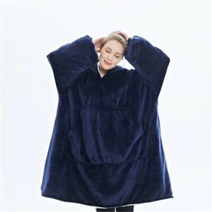 Hooded Sweater Blanket Warm thick Unisex Giant Pocket Adult and Children