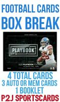 (2) 2020 PANINI PLAYBOOK FOOTBALL CARD HOBBY Box BREAK 1 RANDOM TEAM Break 4198