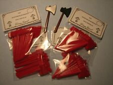 Wholesale Lot Miniature Plastic Axe's 4 Dozen, Can be painted