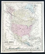 New Listing1860 North America Map United States Pre-Colorado New Mexico Territory Original