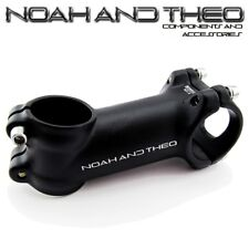 "Bicycle 80mm Stem 28.6mm or 1-1/8"" to 31.8mm Cycling Road Handlebar MTB BLACK"
