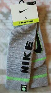 "Nike ""MOVE TO ZERO -65% RECYCLED FIBERS"" Multiplier Crew Socks GRAY-XL 12-15 NEW"