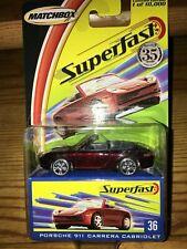 Matchbox Superfast 35 years 1969-2004 Series #36 Porsche 911 Carrera Cabriolet