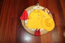 American Girl Doll Molly's Ret. PC Yellow Slicker, Rain Hat, Umbrella & Galoshes