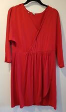 Ladies, wrap over Dress in Red, UK size 12