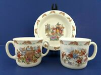 Royal Doulton Bunnykins Cereal Soup Rimmed Bowl Cup Double Handle Mug Lot of 3