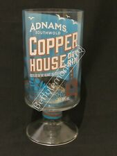 ADNAMS COPPER HOUSE GIN LARGE STEMMED CHALICE GLASS / VASE - 100% RECYCLED!