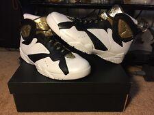 New Air Jordan 7 Retro C&C Champagne White Gold Black Size 11 (725093-140)