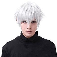 Charming Tokyo Ghoul Wigs Kaneki Ken Short Cosplay Wig Straight Hair Costume UK