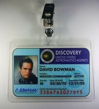 2001 A Space Odyssey ID Badge-Discovery David Bowman cosplay prop costume
