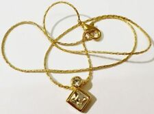 pendentif chaine bijou vintage solitaire cristal diamant émeraude serti * 4954