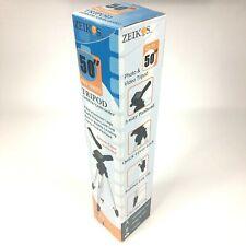 Zeikos Pro Series Tripod 50 inch Universal Camera Mount Bubble Leveling ZE-TR26A