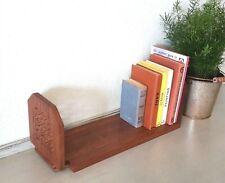 Vtg Indian Carved Adjustable Wooden Book Trough, Shelf, Slide, Desk Top Storage