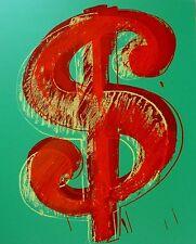 ANDY WARHOL DOLLAR GREEN SUNDAY B.MORNING SCREENPRINT LIMITED ED 177/1000 COA