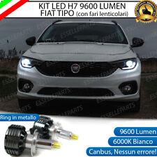 KIT LED H7 FIAT TIPO CON FARO LENTICOLARE 9600 LUMEN 80W CANBUS NO ERRORE 6000K