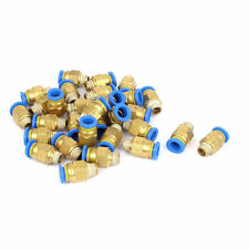 30 Pcs PC8-01 1/8BSP Male Thread 8mm Push in Joint Pneumatic Connector Quick Fit
