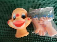"""NIP Set of Clown head and hands Doll Making Crafts. Vintage. 2.75"""""""