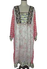 """4X 5X Chiffon Kaftan L 46"""" Embroidered Caftan Tunic Dress EP167"""