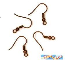 BIGIOTTERIA - 10 monachelle gancio per orecchini - colore rame