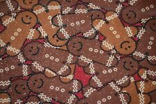 Christmas Fabric, Gingerbread Man with Glitter, Quilting, Craft Cotton, per yard