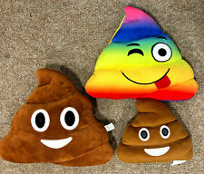 Poo Emoji Cushion X3, Normal, Mini And Pride/ NHS Rainbow, UK Seller, Free P&P