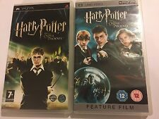 2x SONY PSP UMD 1 GAME 1 FILM / MOVIE - HARRY POTTER AND THE ORDER OF PHOENIX