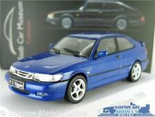 SAAB 93 9-3 MODEL CAR VIGGEN BLUE MUSEUM 1998 1:43 SCALE IXO ATLAS 3898005 K8