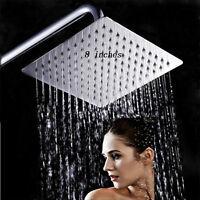 Alcachofa cabeza de ducha lluvia fija baño acero inoxidable cuadrada Nuevo Set