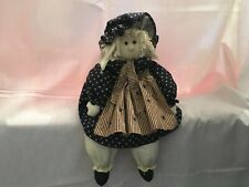 "Vintage 21"" Folk Art Cloth ""American� Rag Doll Handmade Excellent Condition"