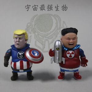 Captain America Trump Superman Kim Jong-un Action Figure Toy 2PCS