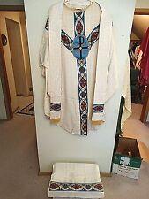 Catholic Vintage Altar vestment & stole Christ Trinity PX Motif #63